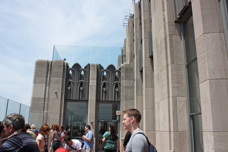 The art deco Top of the Rock
