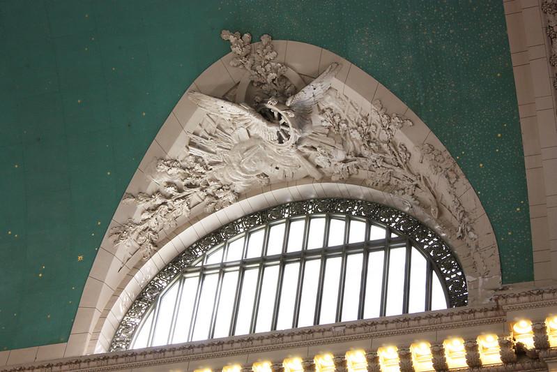 Ceiling inside Grand Central Station