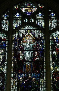 Stained glass in Cathedral of St. John the Divine.
