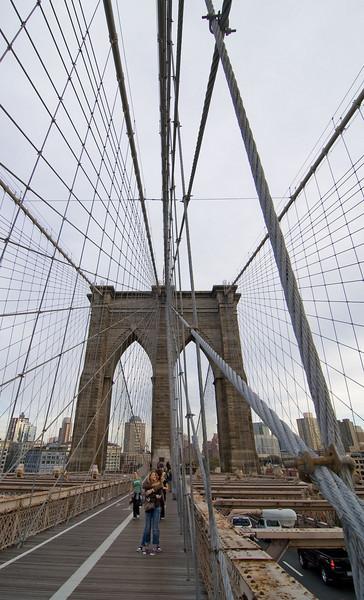 Brooklyn side tower.