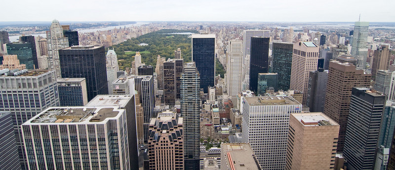 Once we got to Rockefeller Center, we got our tickets for the observation deck and headed up. Looking north to Central Park from the top of the Rockefeller Center.