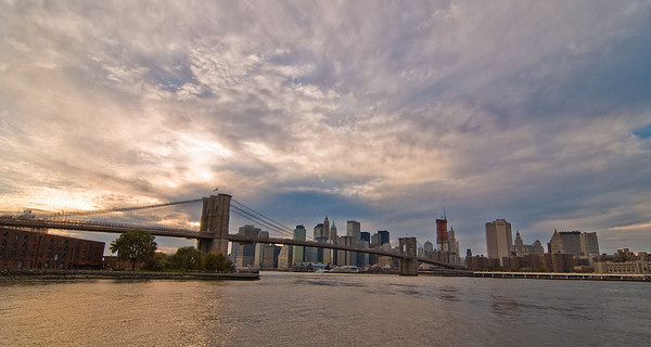 Brooklyn Bridge and lower Manhattan from Brooklyn Bridge Park.