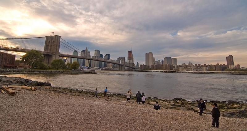 Brooklyn Bridge and lower Manhattan from Brooklyn Bridge Park.