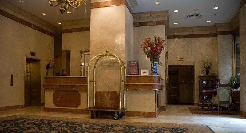 Lobby of the Kimberly Hotel.