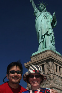 Gary and Mary Ellen in front of Lady Liberty