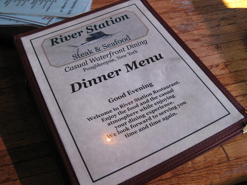Dinner at River Station Steak & Seafood, Poughkeepsie, 07/17/2011