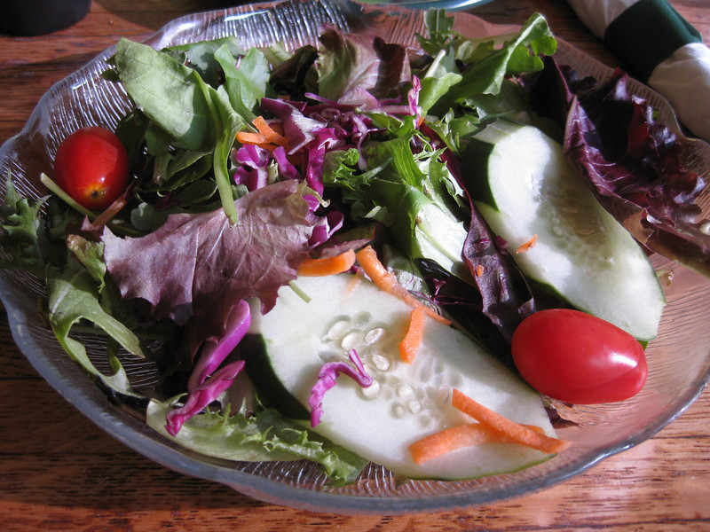 Salad. Dinner at River Station Steak & Seafood, Poughkeepsie, 07/17/2011