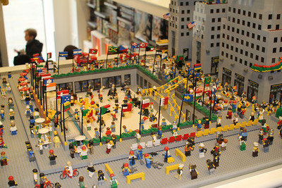 Rockefeller Center made of Legos