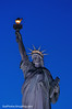 North America, USA, New York, New York City.  The Statue of Liberty in the evening.