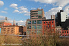 A view of Chelsea buildings, from High Line Park, Manhattan, New York City, United States