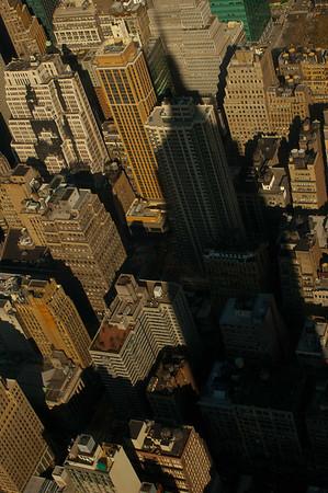 Empire State Building overshadows New York City.