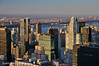North America, USA, New York, New York City, Manhattan.  A view of Manhattan, the Hudson River, and beyond, from the top of Rockefeller Center