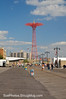 View of the Parachute Jump from the Coney Island Boardwalk