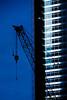 Construction crane over Ground Zero in New York City.