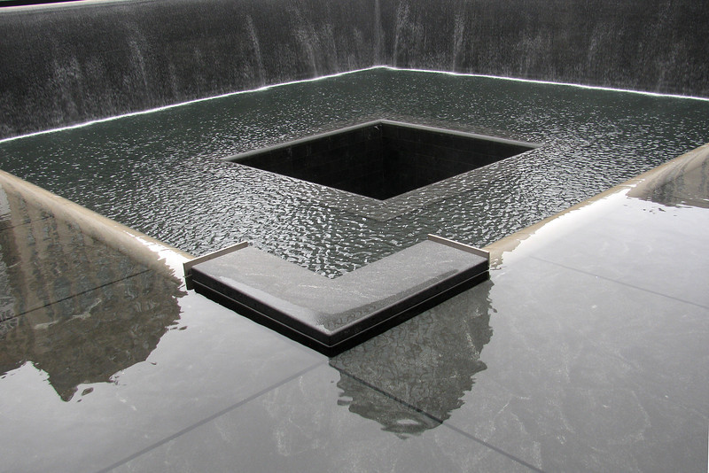 South pool at the 9-11 Memorial.
