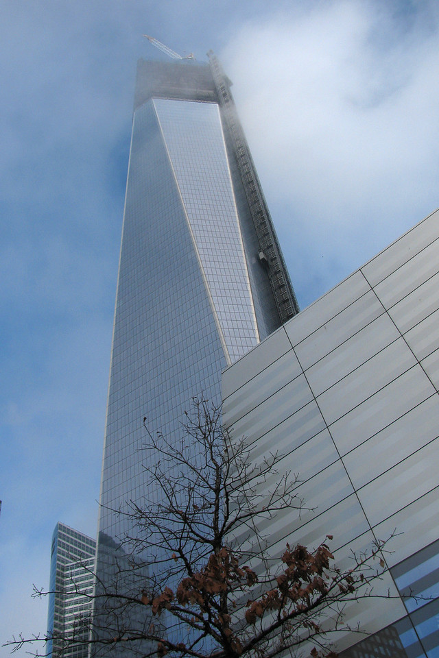 The new Freedom Tower still under construction.