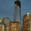 NYC Skyline with The Freedom Tower under construction