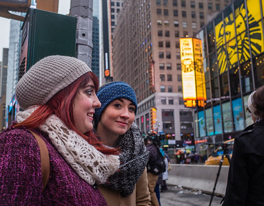 Isabella and Morgan in Times Square