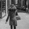 Good coat, expensive purse, good shoes and long hair: NYC Look