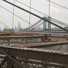 From the Brooklyn Bridge: how artsy does it get??  Look for Waldo - I mean the Empire State Building!