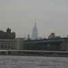 The Empire State Building in the distance.