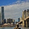 Looking towards Manhattan from Brooklyn Bridge Park