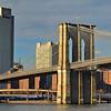 Manhattan-side tower of the Brooklyn Bridge