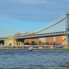 Manhattan Bridge and Empire State Building as viewed from Brooklyn Bridge Park