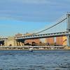 Manhattan Bridge and Empire State Building as viewed from Brooklyn Bridge Park