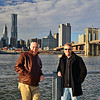 Posing for a picture with my Father - Brooklyn Bridge Park