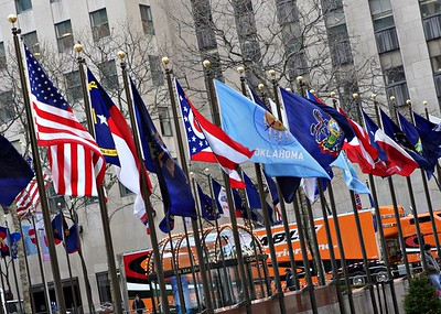 National Flags at Rockefeller Center