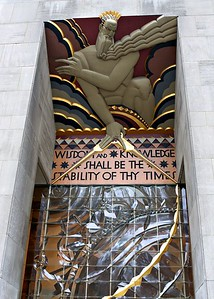 Building entrance at Rockefeller Center