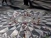 Mosaic memorial to John Lennon in Central Park.