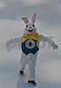 Ice skating Easter Bunny at Rockefeller Center.