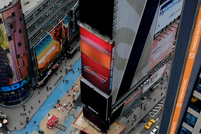 TImes Square seen from the top of the Paramount building.