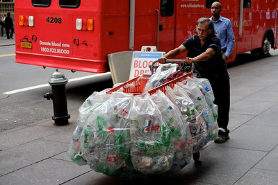 Recycling, Times Square, NYC.