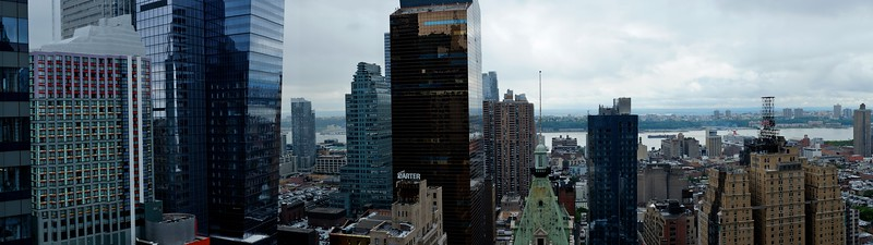 Panorama from the top of the Paramount building, Times Square, NYC.