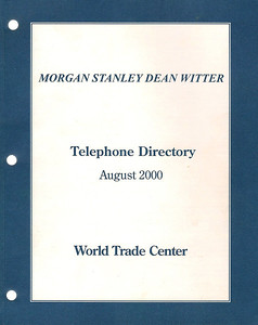 MSDW's 2000 Phone Directory for WTC.