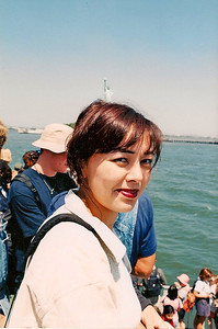 6/11/99 On the ferry enroute to Liberty Island.