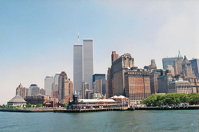 6/11/99 On the ferry from Battery Park to Liberty Island.