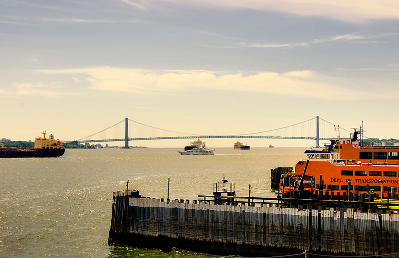 Verrazano Bridge viewed from Staten Island