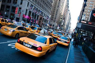Taxis Outside Penn Station
