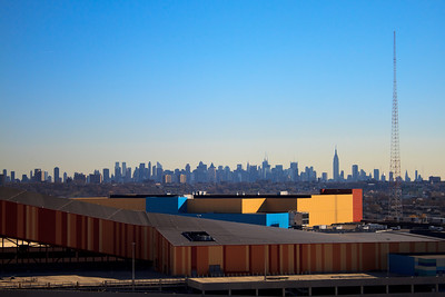 The New York City Skyline, seen from the New Meadowlands Stadium