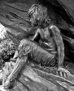 "Seligman Fountain, ""The Bear and the Fawn,"" Morningside Park, Harlem, NYC"