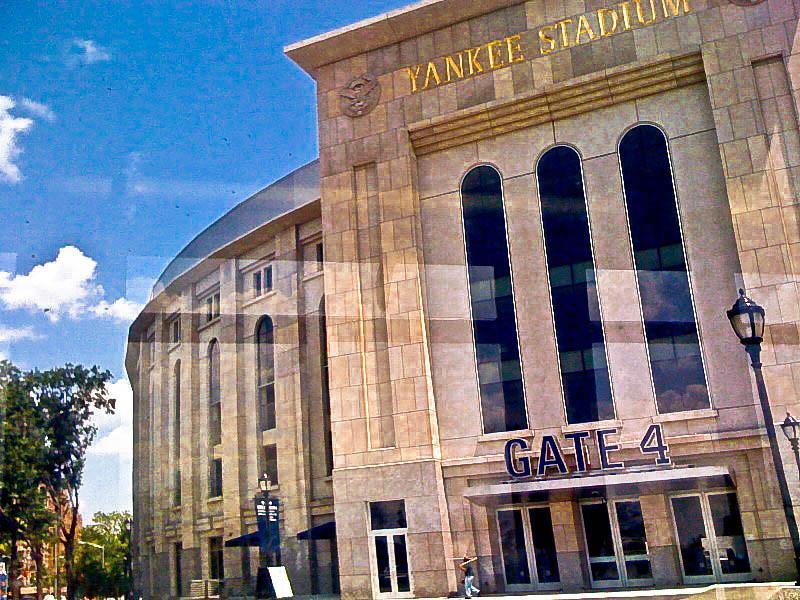 New Yankee Stadium from the Bx6 bus window