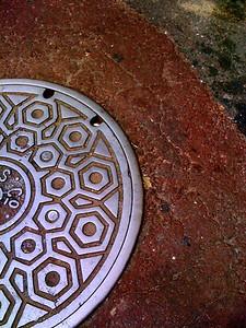 Manhole cover, Nassau and Beekman Streets, NYC