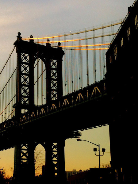 Brooklyn tower of the Manhattan Bridge