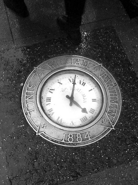 Barthman clock, Broadway at Maiden Lane, NYC