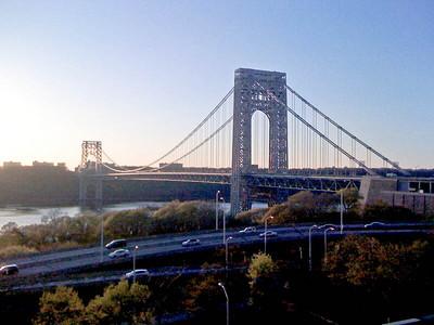 George Washington Bridge, Hudson River, viewed from northern Manhattan (NY) to New Jersey.