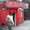 "St. Nick's Pub, Sugar Hill, Harlem, NYC<br /> <br /> The ground floor of 773 St. Nicholas Avenue has housed Harlem's nightlife for the longest continuous duration since the 1930s. It enjoyed particular notability in the 1940s as Lucky's Rendezvous,  owned by the legendary stride pianist Charles Luckeyth Roberts, who was the first of his colleagues to publish a composition, ""The Junk Man Rag."" The club attracted numerous musical stars of the era including Duke Ellington, Billie Holiday, Lena Horne, and Billy Strayhorn. In the 1950s the club's ambiance switched to opera as the Pink Angel, then returned to jazz in 1960 as St. Nick's Pub, which it remains today."